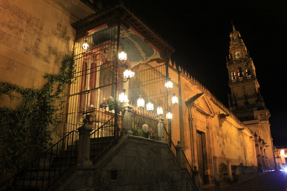 Cordoba, mosque, cathedral, night