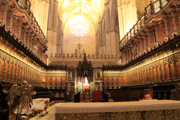 Seville, cathedral, stall