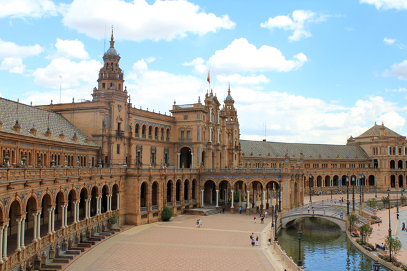 The beautiful Spain Square, Seville
