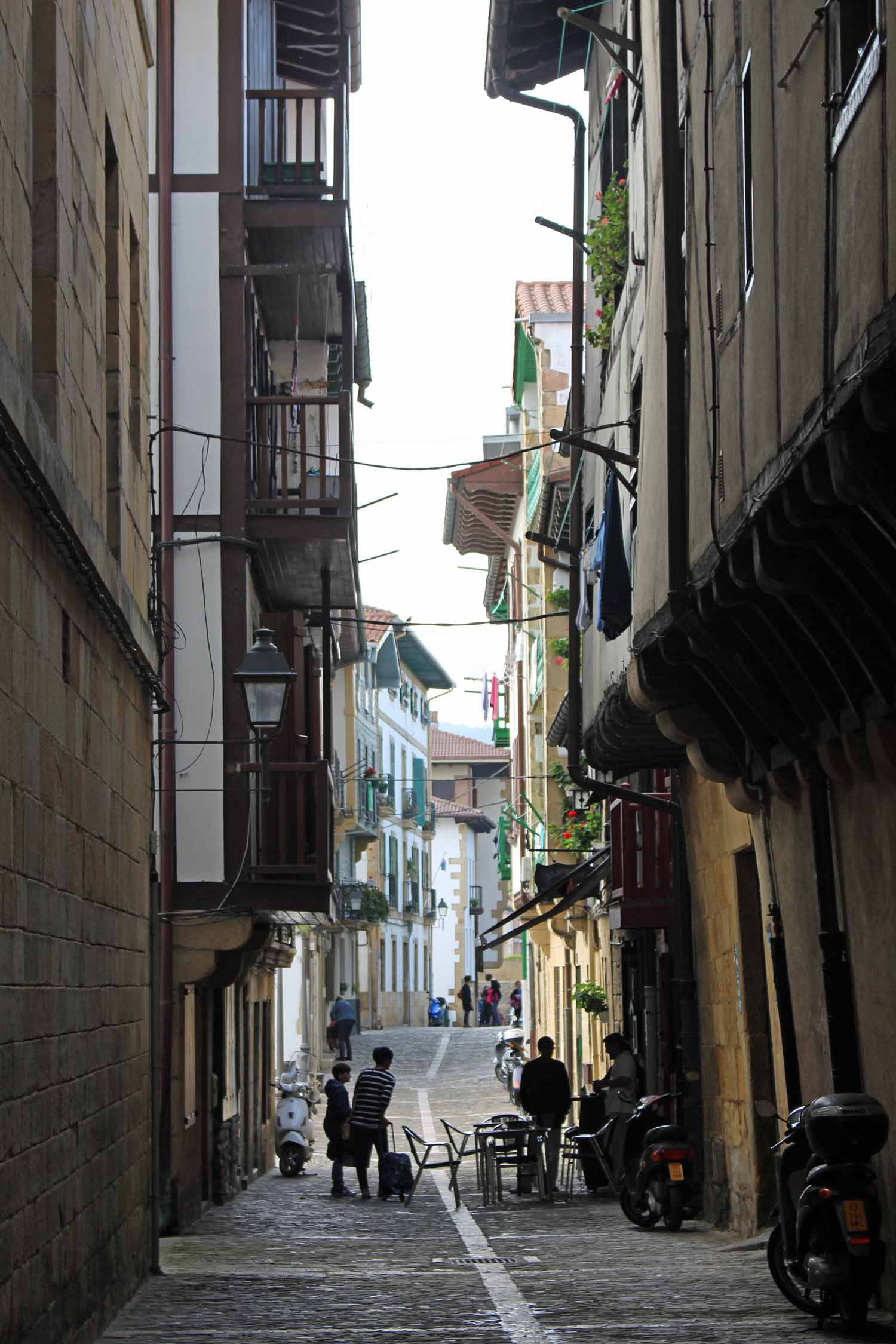 Hondarribia, typical street