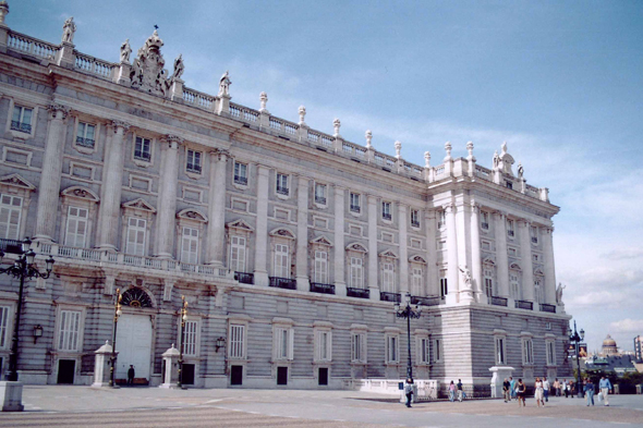 Madrid, Palacio Real, vue