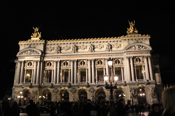 Paris, Opera, night