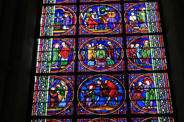 Laon, cathedral, stained glass