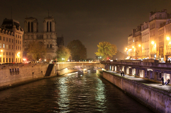 Paris, Seine, night