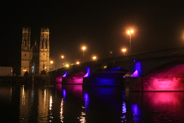 Pont-à-Mousson, nuit