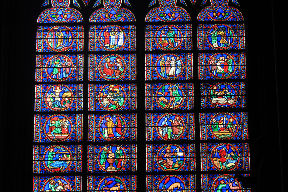 Paris, Notre-Dame, stained glasses