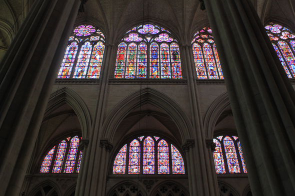 Le Mans, St. Julien cathedral, stained glasses