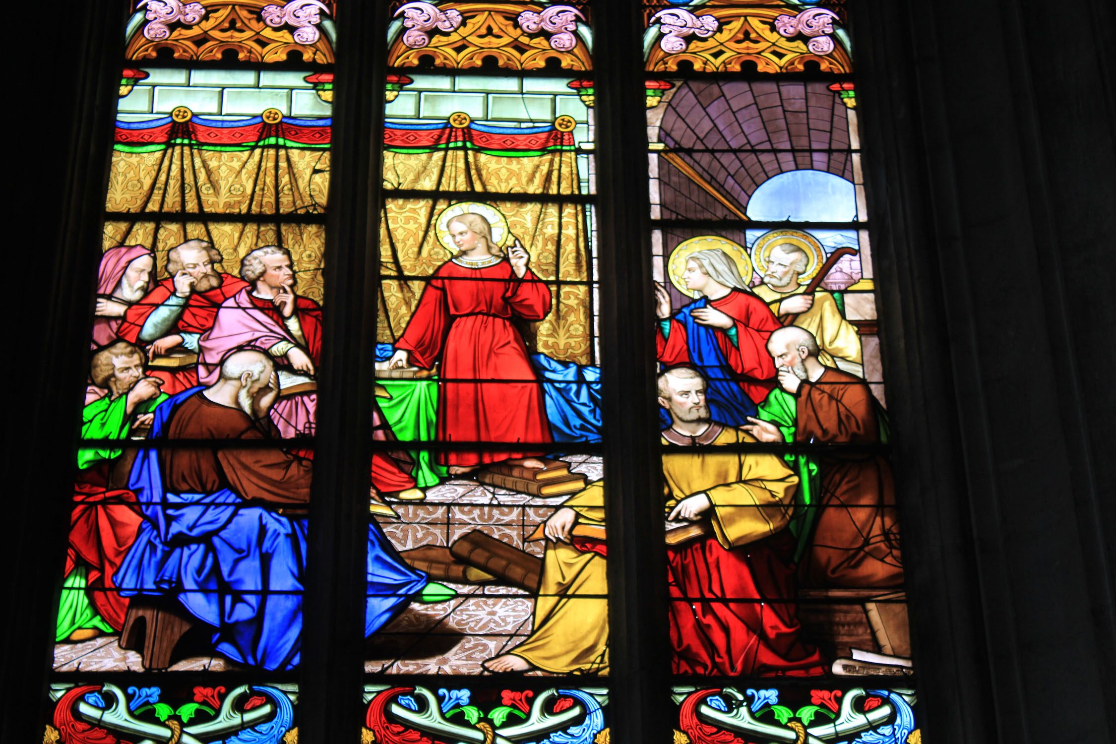 Fontenay-le-Comte, church, stained glasses