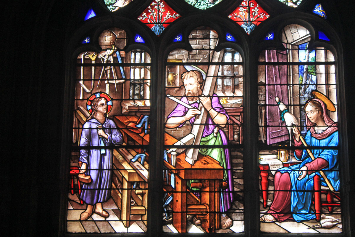 Chaumont, St-Jean-Baptiste, basilica, stained glasses