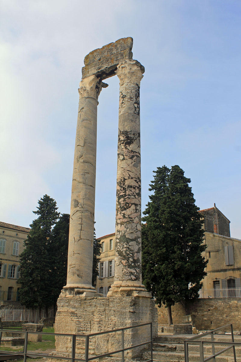 Arles, antique theatre, column