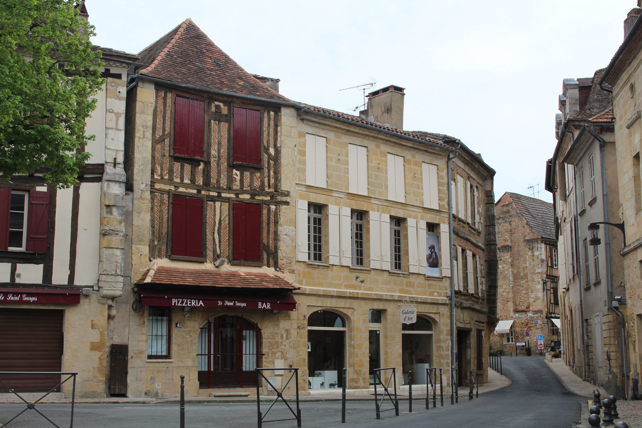 Bergerac, half timbered house