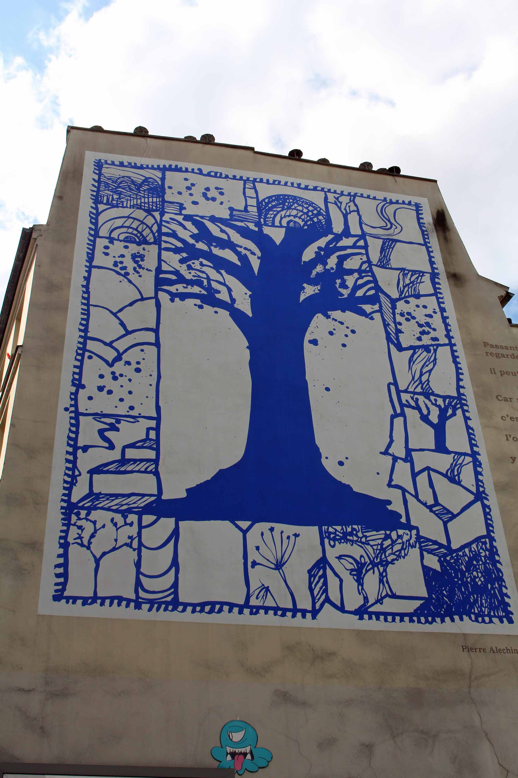 Paris, Alechinsky, blue tree