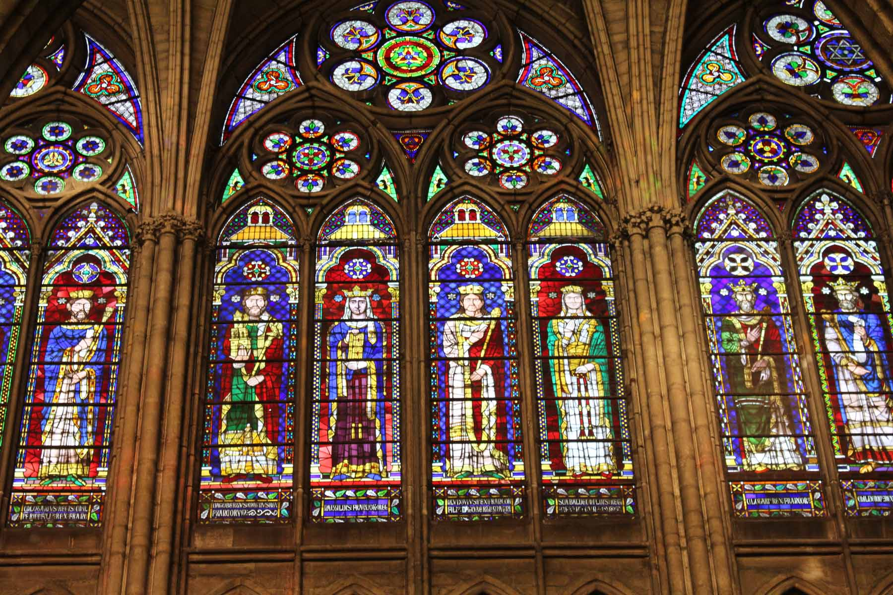 Saint-Denis, stained glasses