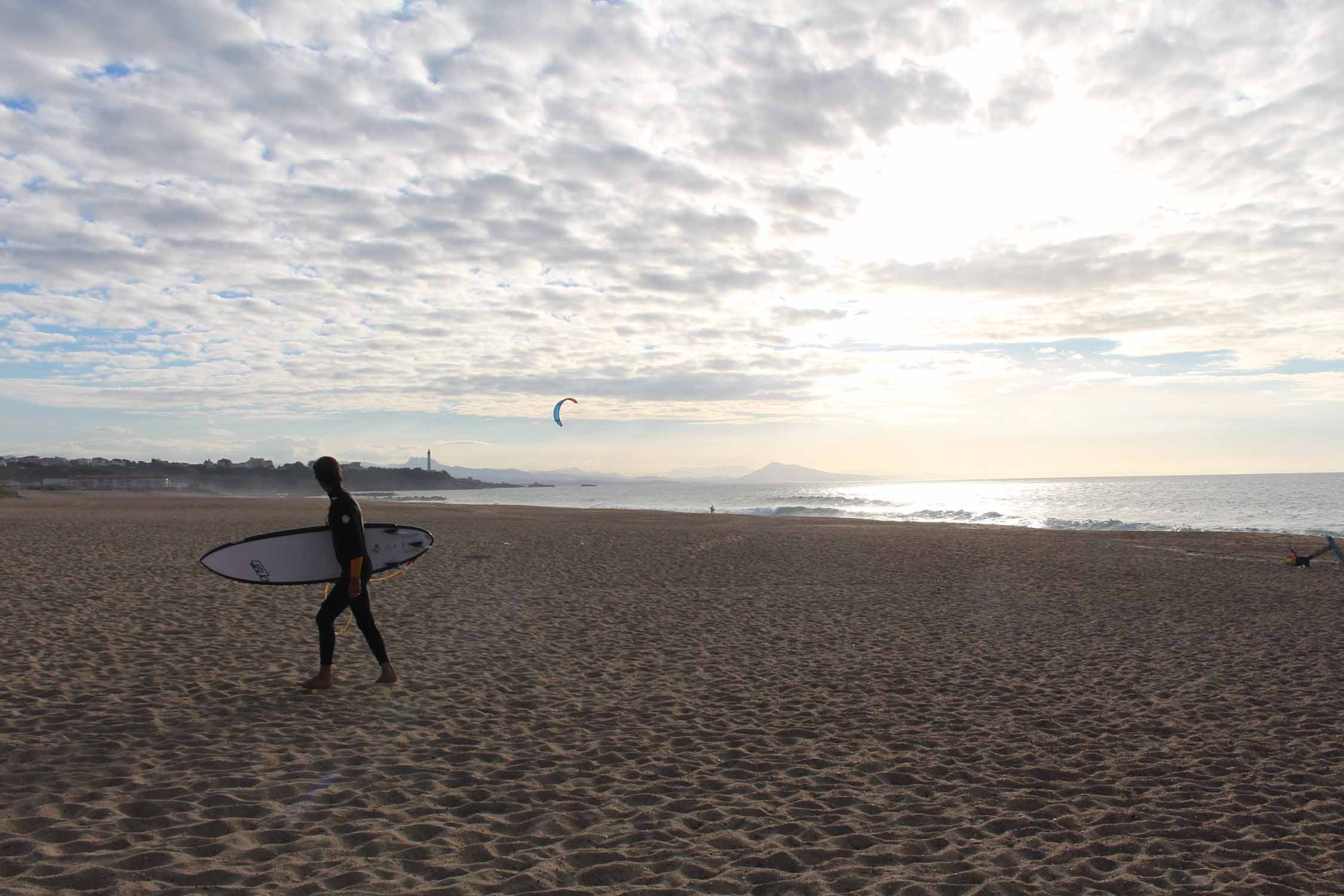 Anglet, beach, surfer