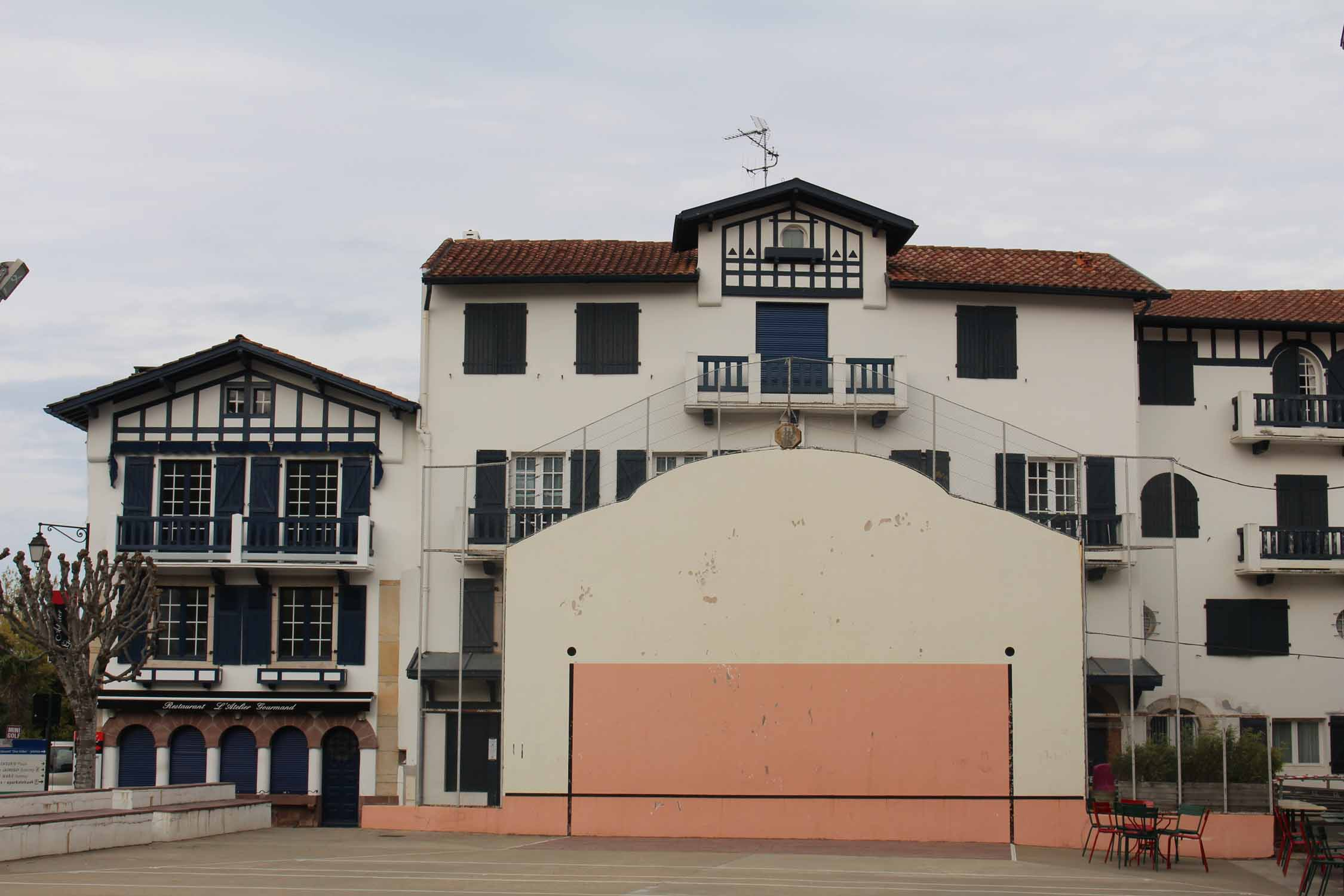 Ascain, Basque Country, fronton