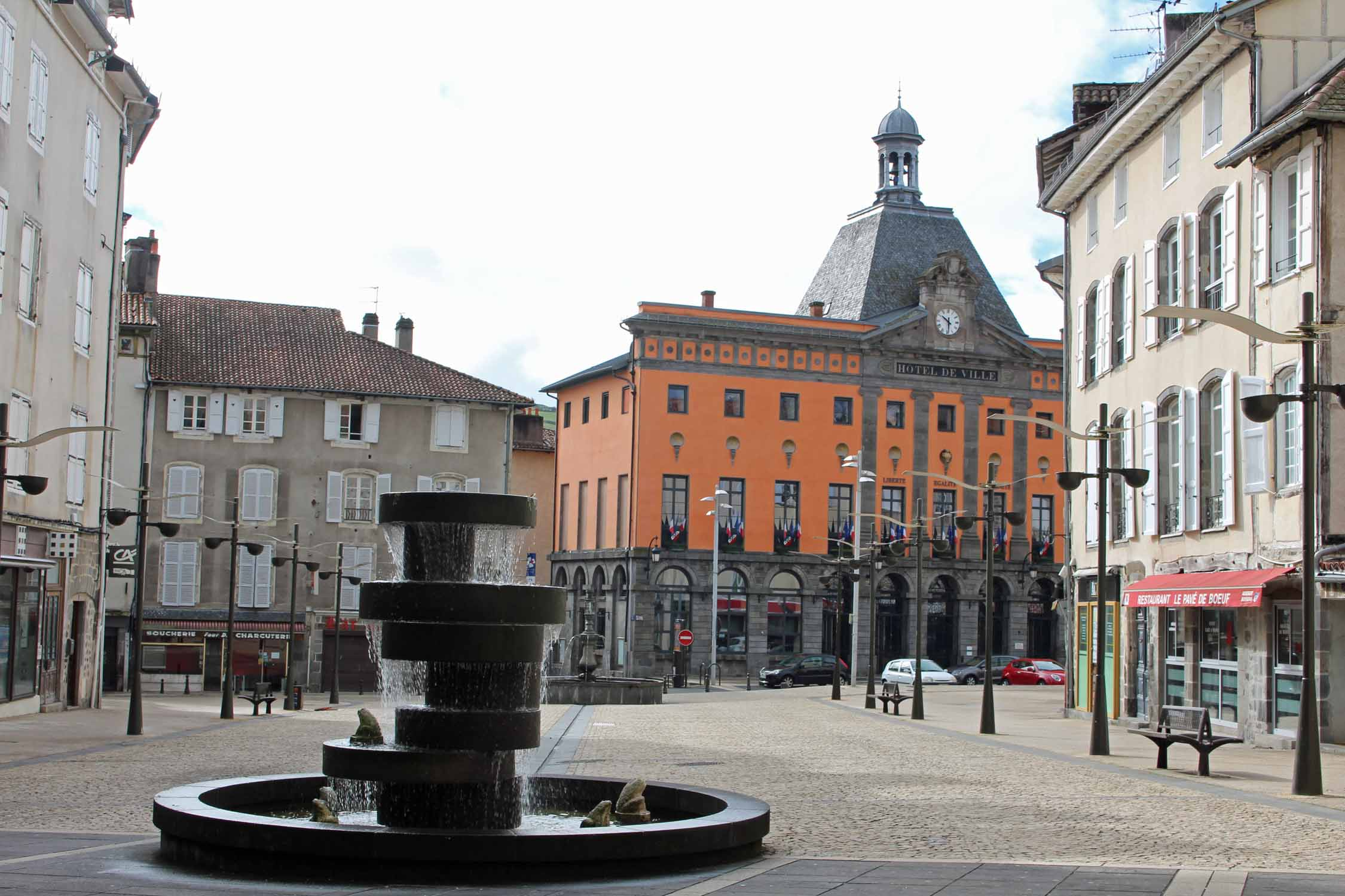 Aurillac, city hall, square