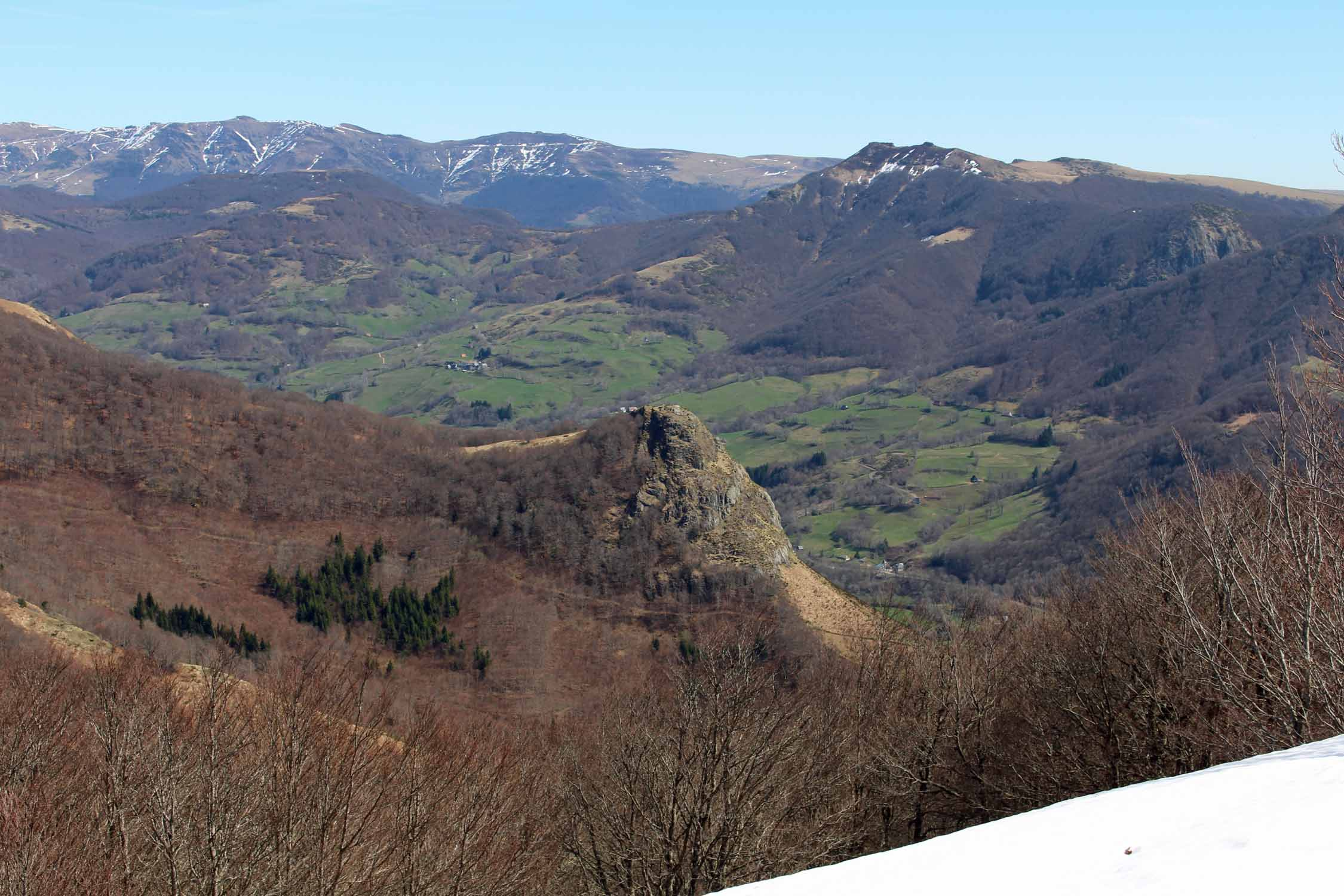 Mountains of Cantal, landscape
