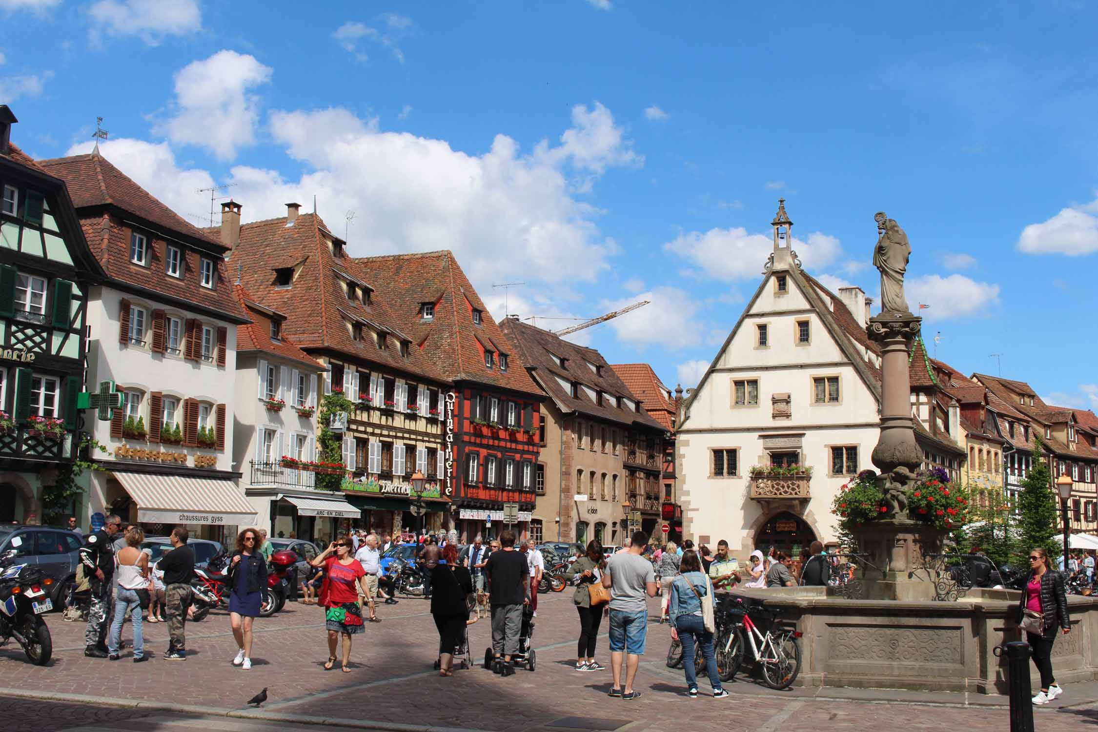 Obernai, central square