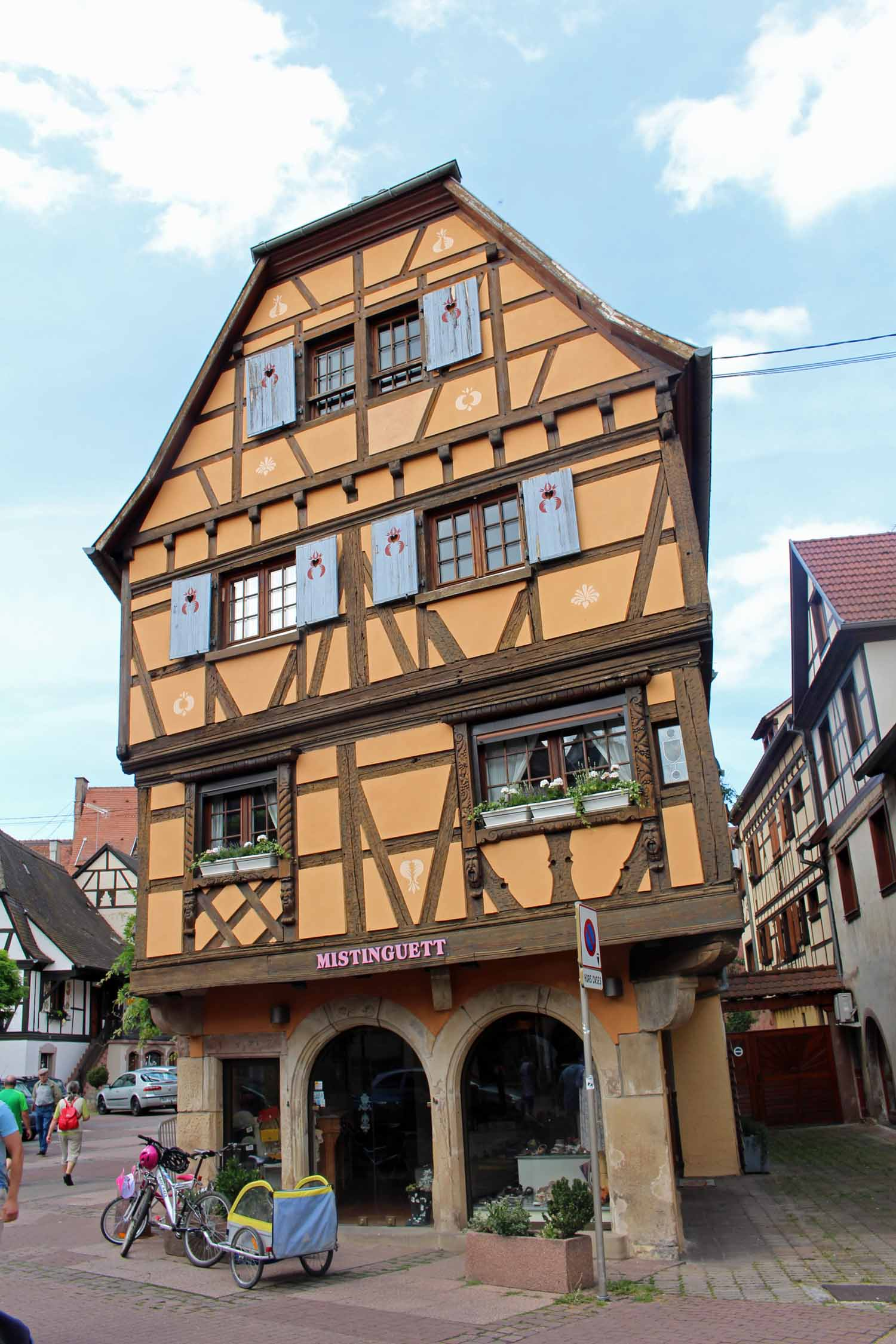 Obernai, Alsace, typical house