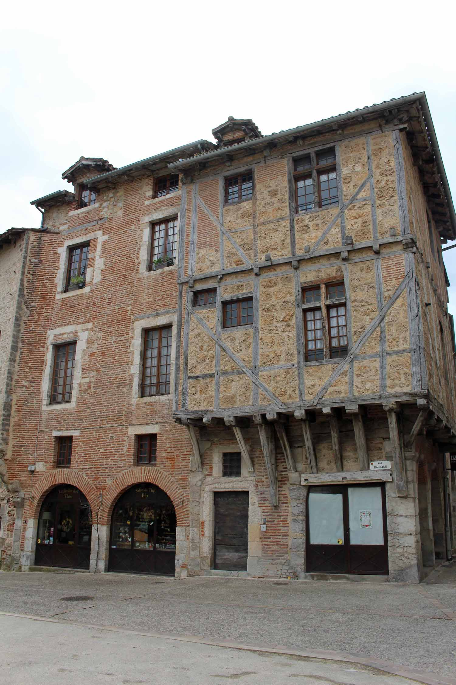 Cahors, half timbered house