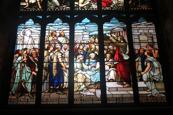 Edinburgh, stained glasses, cathedral St; Giles