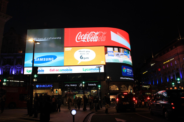 London, Piccadilly Circus, night