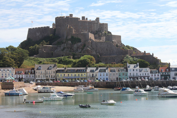 Jersey,  the castle of the Mont Orgueil