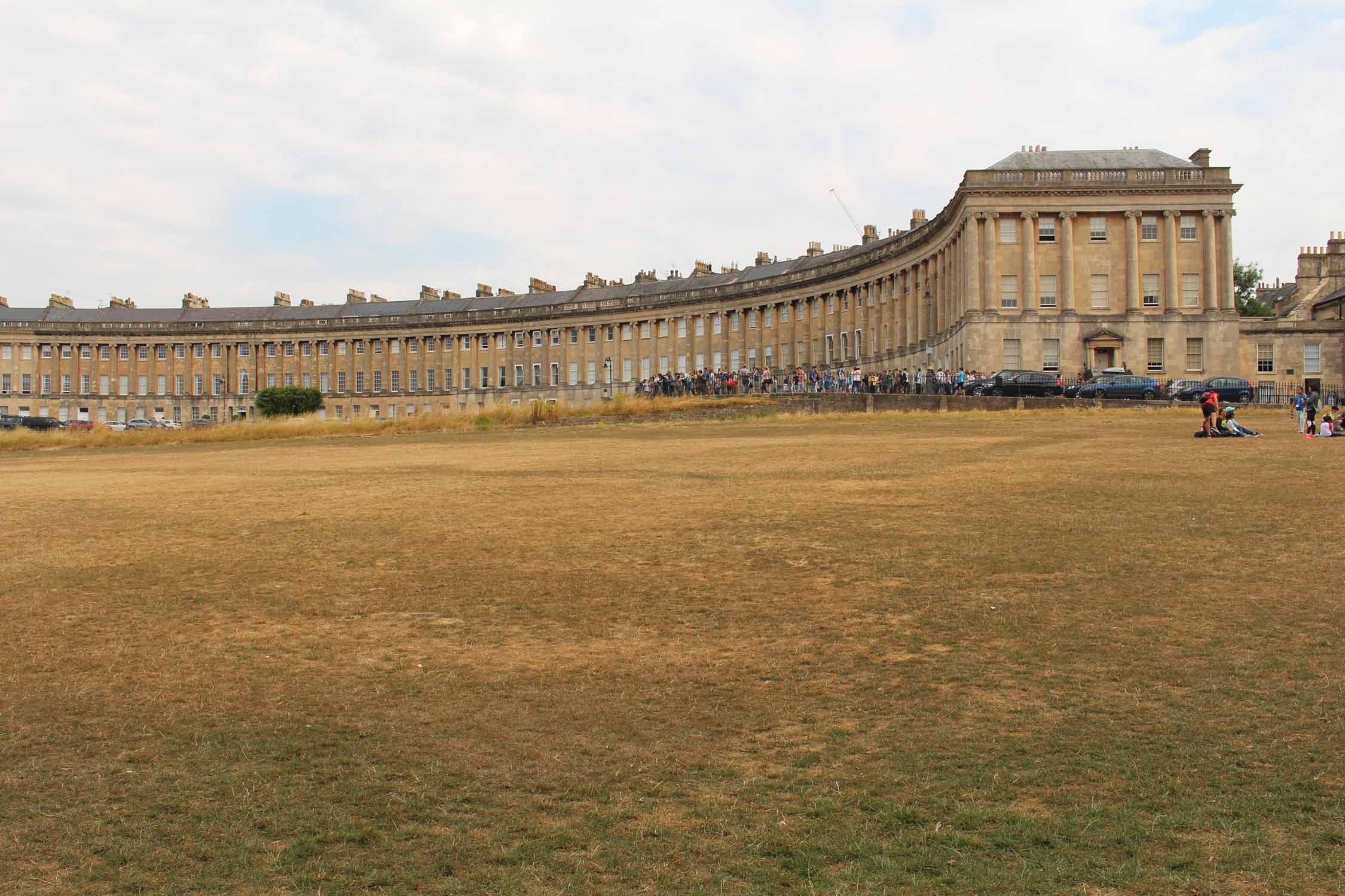 England, Bath, Royal Crescent square