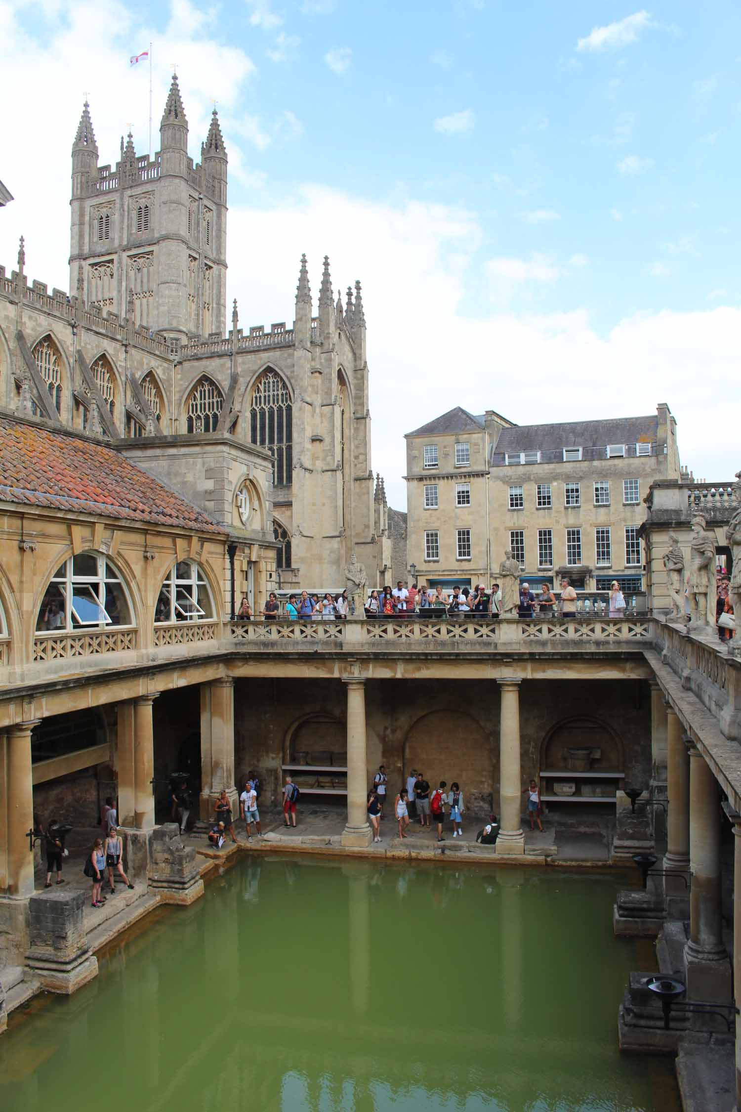 England, Bath, roman baths, cathedral