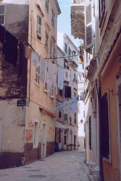 Corfu, narrow alley