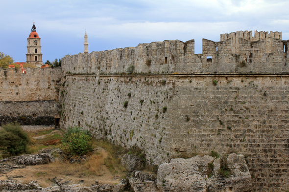 Rhodes, ramparts, Greece