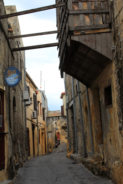 Rhodes city, typical alley