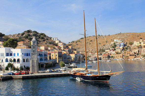 Simi, port, Greece