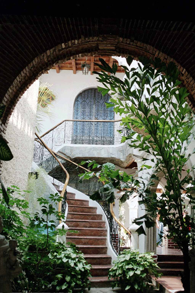 Guatemala, patio, house, Antigua