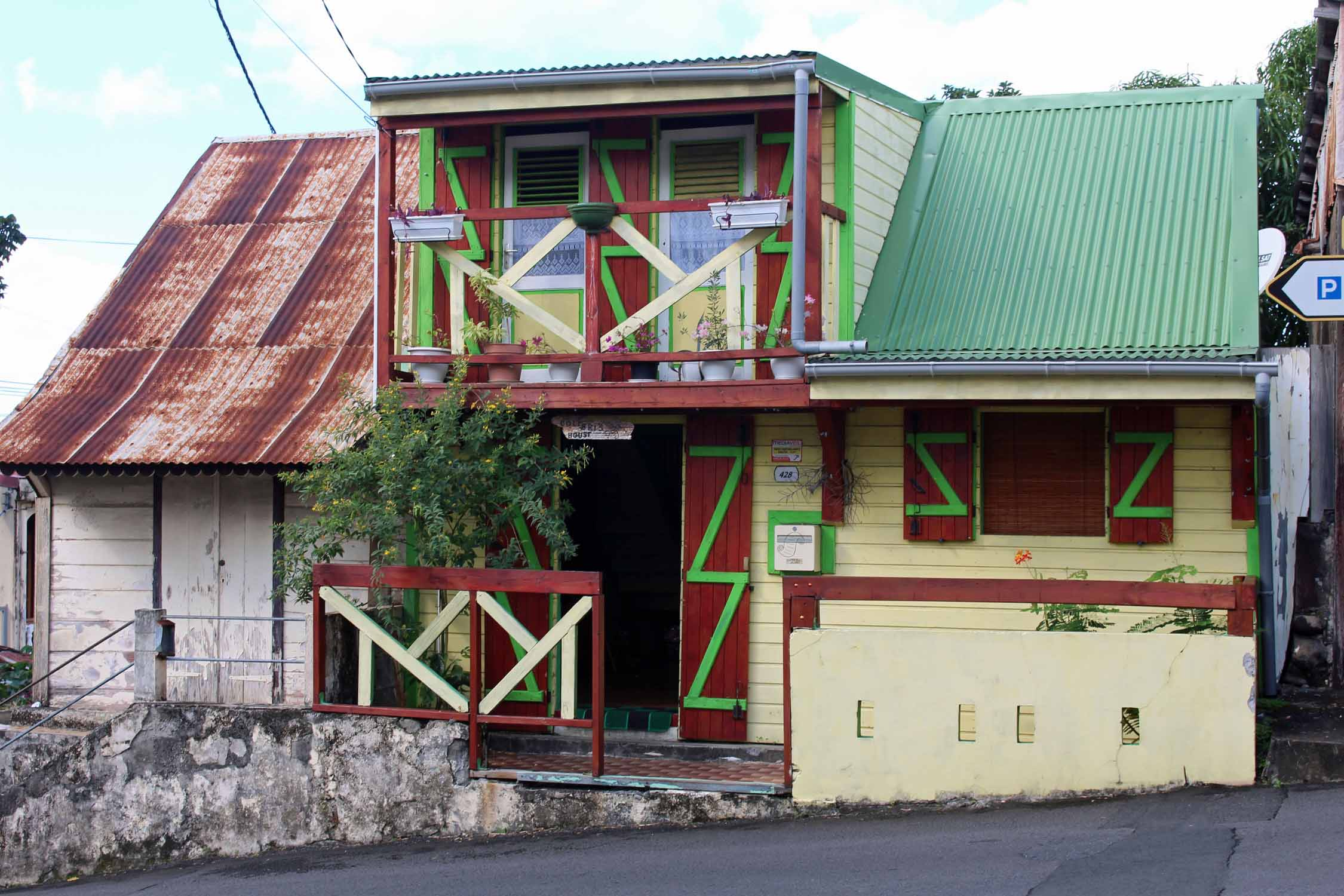 Guadeloupe, Pointe-Noire, typical house