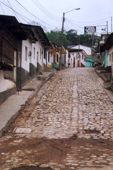 Honduras, Copán, typical street