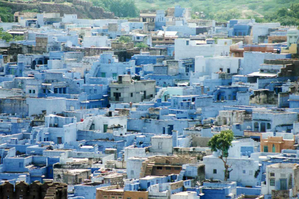 Jodhpur, blue houses