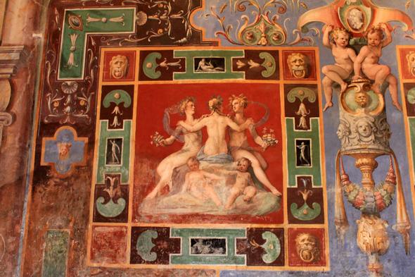 Villa de Este, frescos