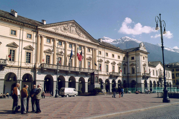 Aosta, square E. Chanoux