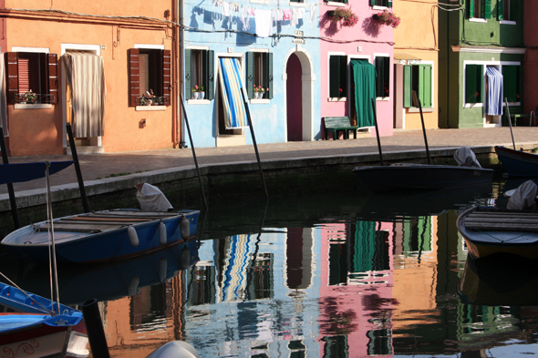 Burano, house, reflections
