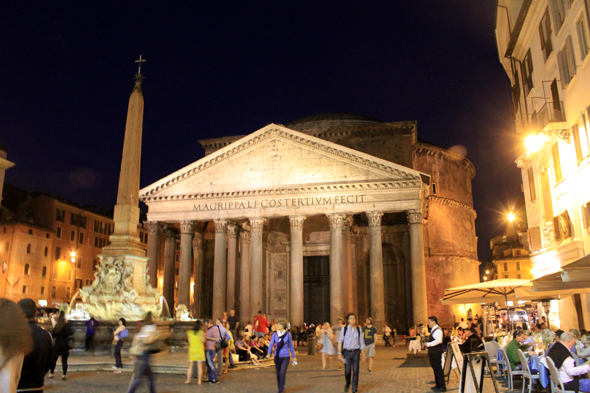 Pantheon, night