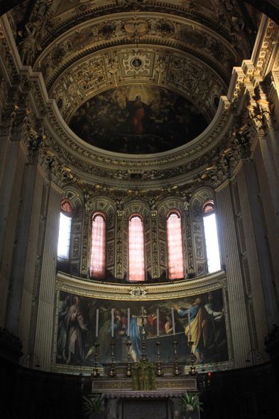 Bergamo, Saint Mary Major, nave, Italy