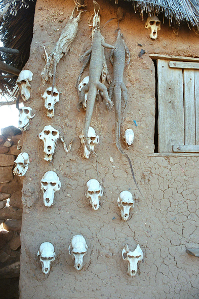 Dogon Country, Dourou, skulls
