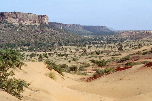Landscape, cliff of Bandiagara