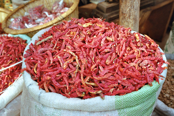 Mopti, market, red peppers