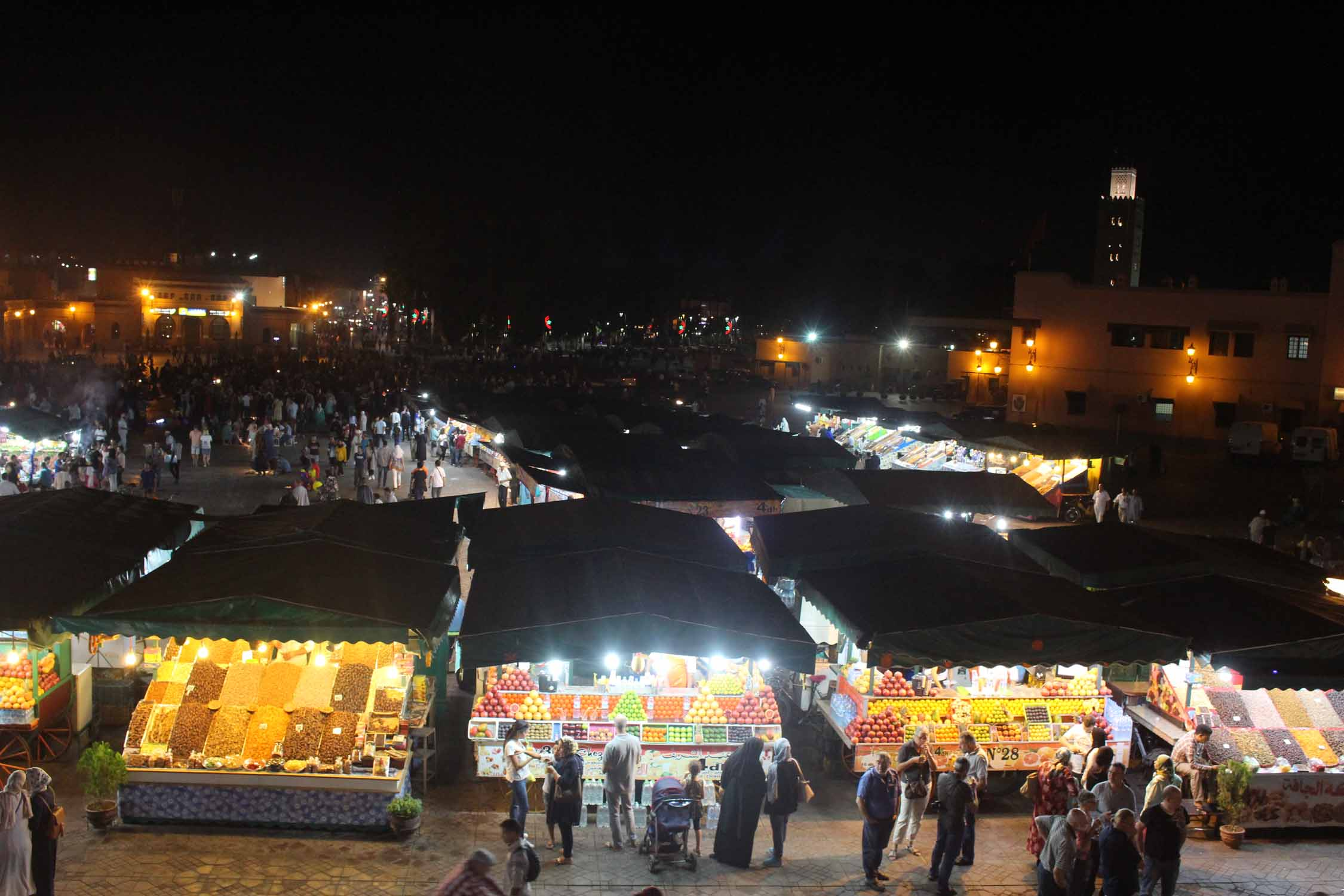 Marrakesh, Jemaa el Fna square, night