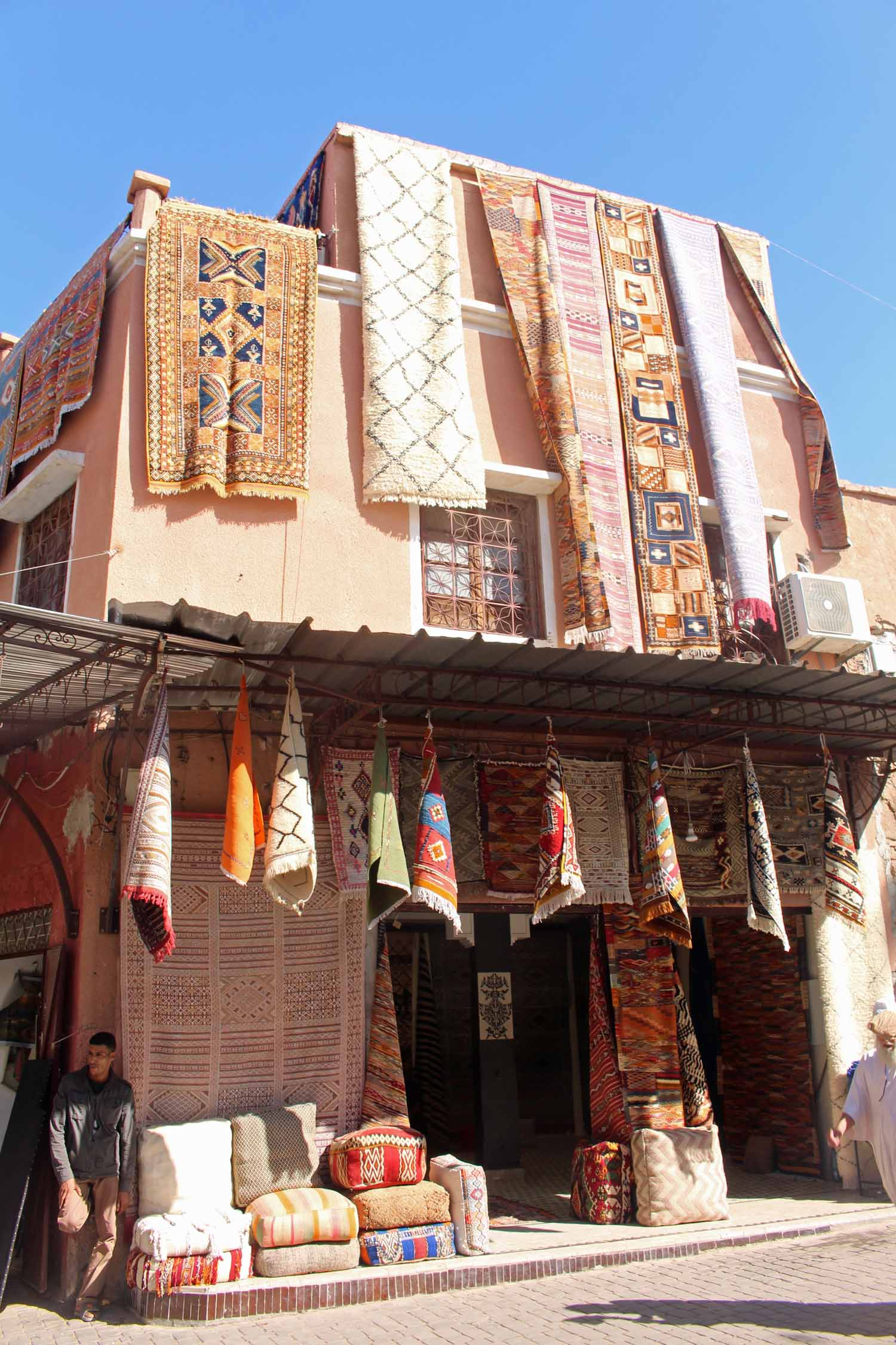 Marrakesh, market, carpets