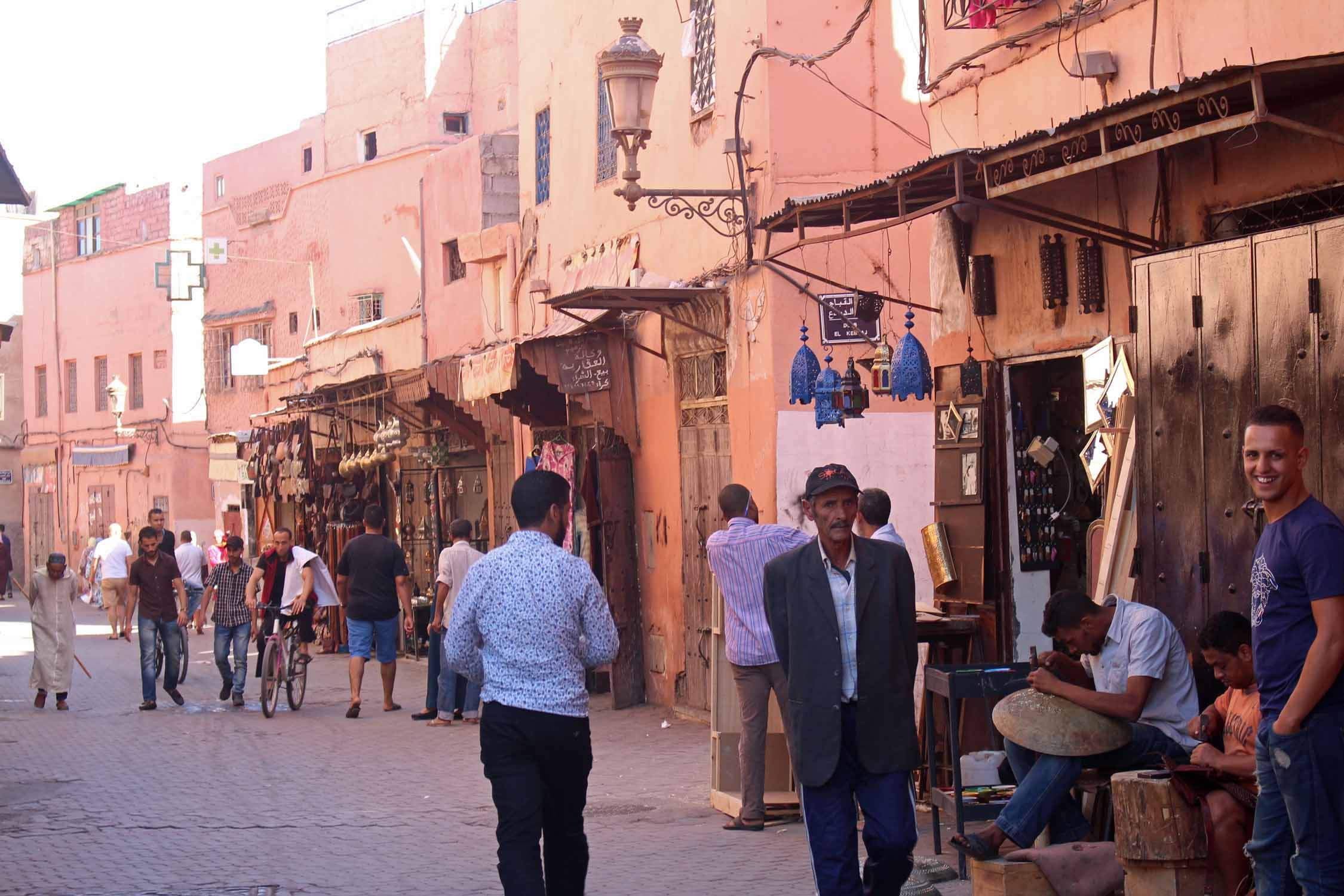 Marrakesh, street Bab el Debbagh