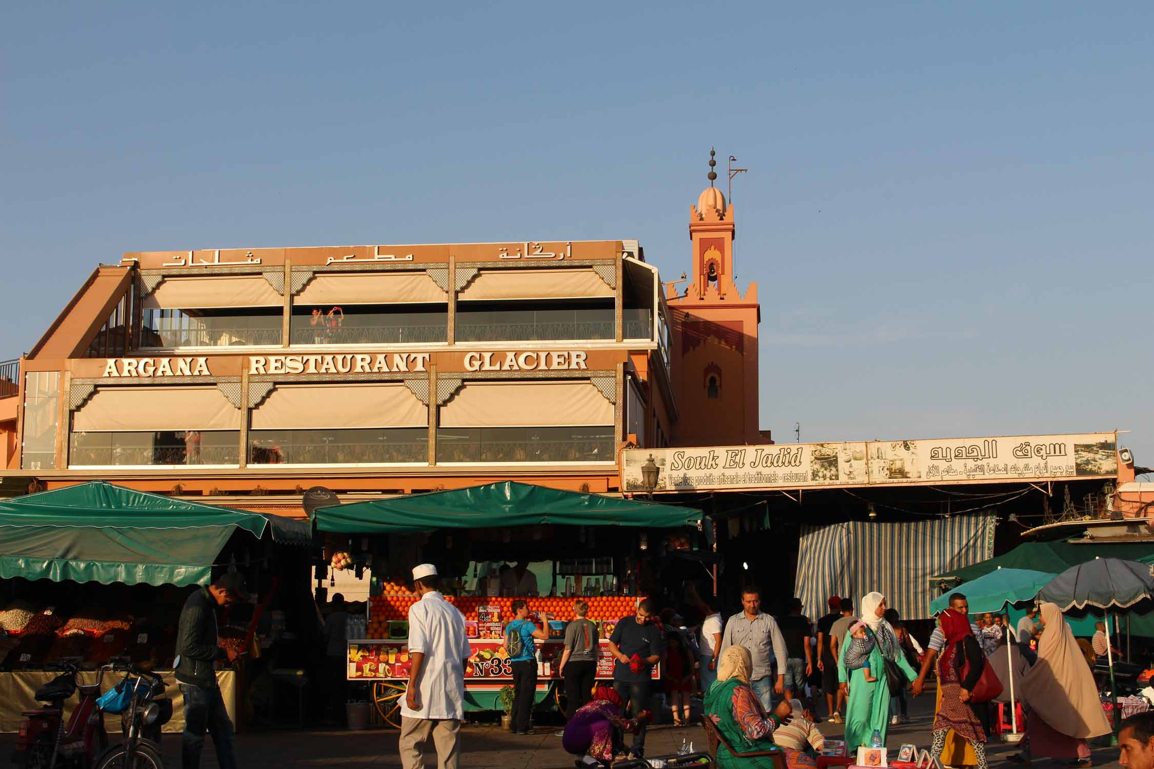 Marrakesh, restaurant Argana, Morocco