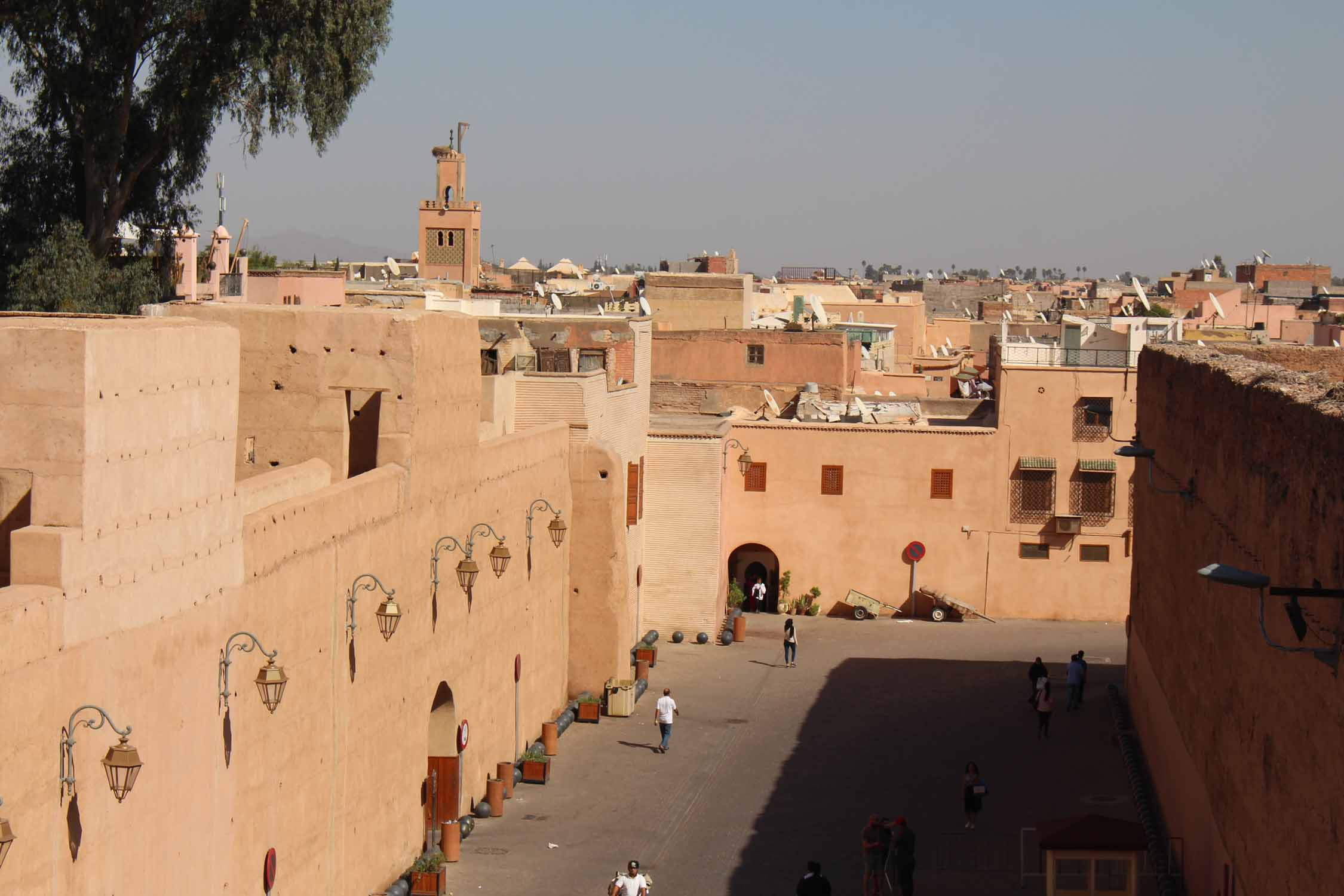 Marrakesh, el Badi palace, view